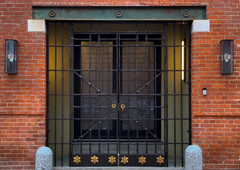 Spencer Carriage House exterior gate