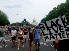 BLM protest photo from DC