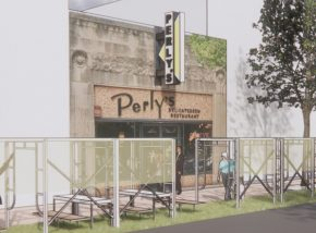 Imagined outdoor seating at Richmond area restaurant Perlys