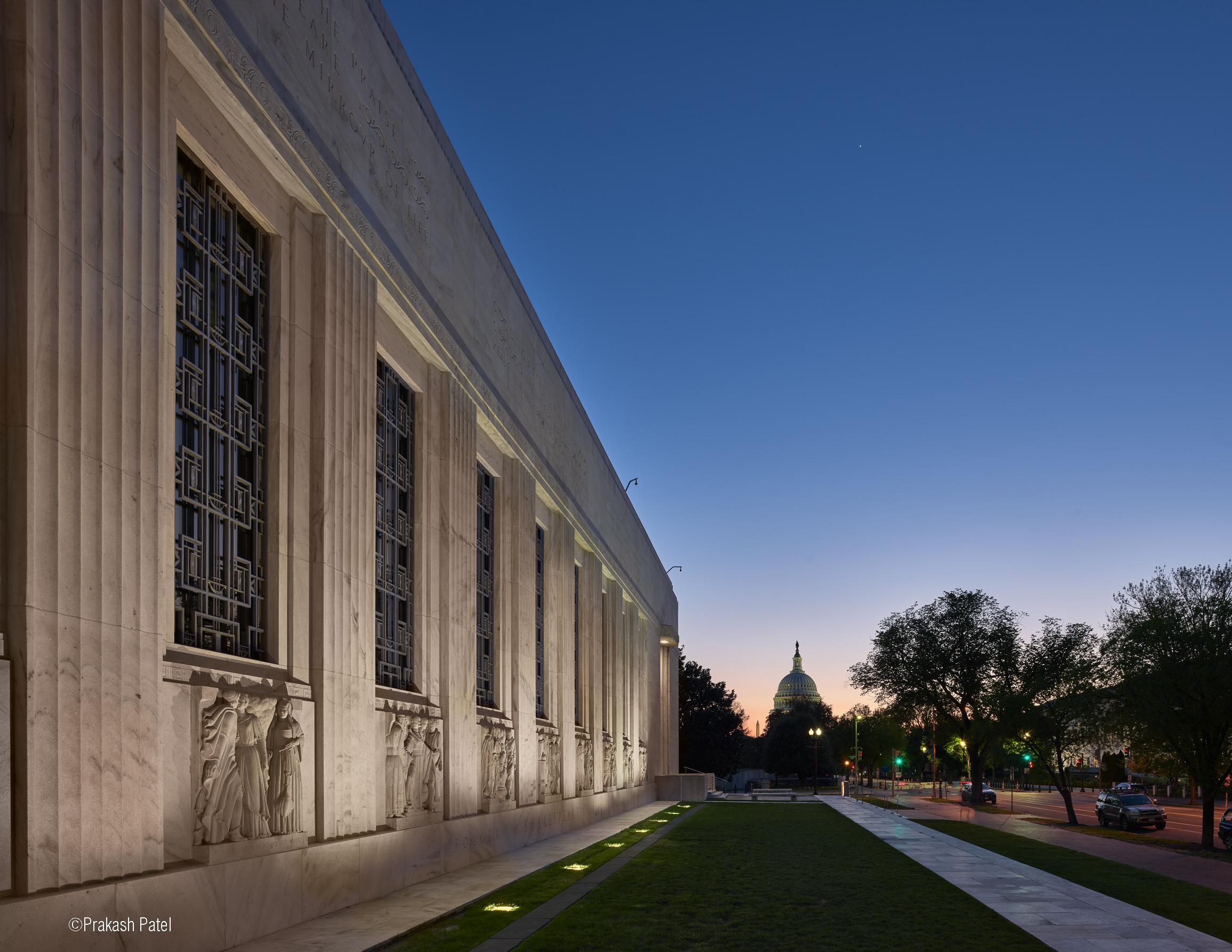 MTFA's conservation work on the Folger Library Exterior photo