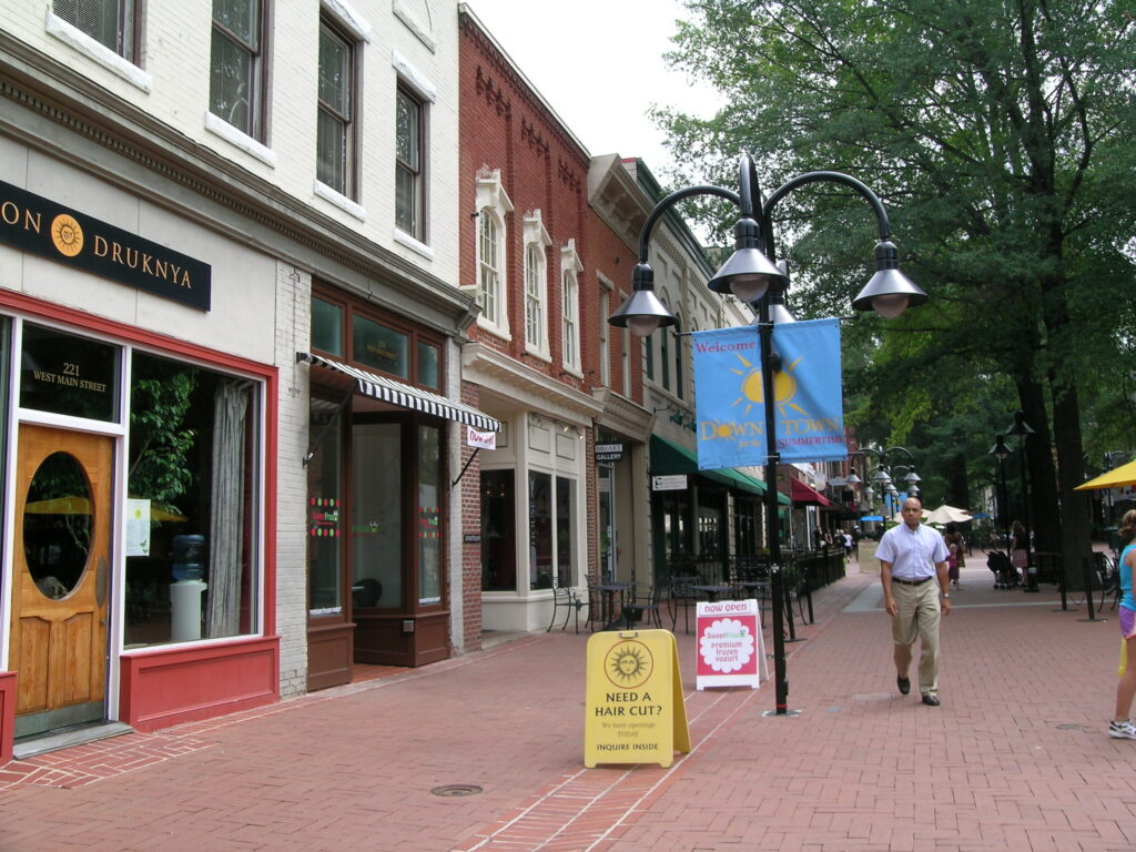 East Main and Second Street