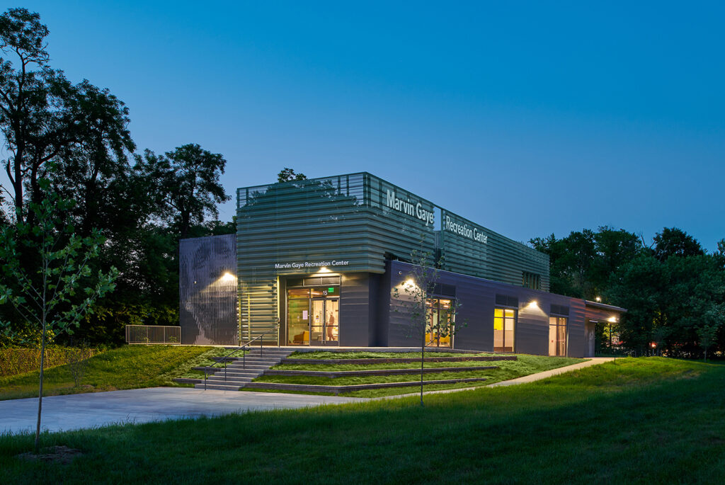 Marvin Gaye Rec Center. Hoachlander Davis Photography