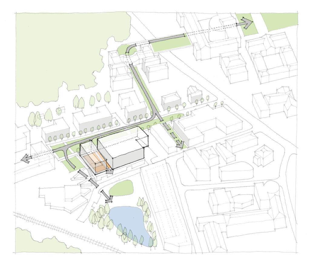 site plan for UVA SWC