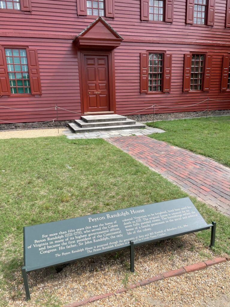 Peyton Randolph House  in Colonial Williamsburg